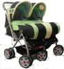 Baby twin (double) stroller with steel frame /factory direct sale