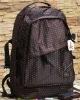 Korea men and women leisure backpack black wave point double shoulder pack bag big bag girl students backpacks