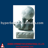 Stone panda statue sculpture