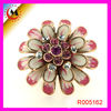 PINK WITH DIAMOND BIG FLOWER DESIGN RINGS