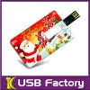 Merry Christmas business card usb gift for promotional free logo print