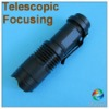Mini Telescopic Focusing CREE 3W LED Flashlight