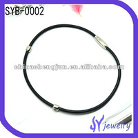 fashion Leather jewelry with steel beads and magnet clasp