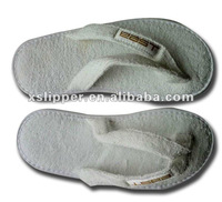 cotton terry hotel slipper flip-flop