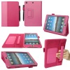 folio case for mini ipad leather/PU, with pen holder and card holder