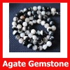 Agate Gemstone Round Ball Beads,Double Colors,Semi Precious Gemstone 12mm