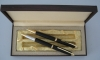 engraved gift pen set with die cut clip