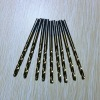 HSS titanium coated straight shank twist drills of 6mm