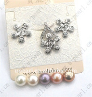 925 sterling silver fittings pearl (earring and pendant )