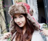 custom design warm fur funny women winter hat 2012