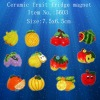 Ceramic fruit fridge magnet