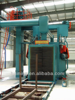 QG0205 Steel structure roller conveyor sand blasting equipment