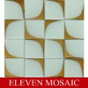 Windmill pattern glass mosaic EMSDT02