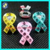 Ribbon cancer slide charms