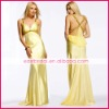 Spaghetti straps sheath floor length chiffon evening dress ed0122