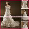 Ruffle V-neckline strapless ivory bridal gown ciwd0001