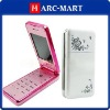 Fashion design Chinese Mobile Phone E700 Dual Card Tri Band with Colorful Lights Slide Cell Phone #5062