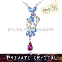 Fashion crystal necklace made with swarovski elements