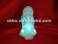 Ceramic Angel with LED Light