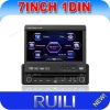 universal single din 7 inch car multimedia gps dvd player with digital touch screen