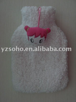cute and soft plush hot water bottle cover