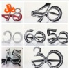 Plastic birthday party number glasses
