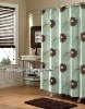 100%polyester printed water repellent shower curtain