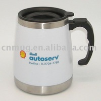 Stainless Steel White Mug