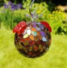 Artisan Recycled Glass Mosaic Bird Feeder
