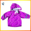 100% Waterproof New designer Kid's rain suit Pink Rain Coat with Hood