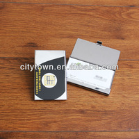Fashion business name card box original design stainless steel wire drawing