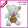 Plush stuffed toy with white Teddy Bear shape for baby