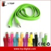 Fashion style micro USB cable for mobile phone