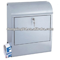 Stainless steel outdoor mailbox
