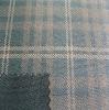 TC bronzing check suede fabric for fashion garment