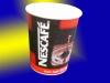 Red and black Nestle Mug