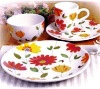16 PCS Hand-painted Stoneware Dinnerware Set