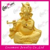 Religious gold plated India god lord Ganesha statue