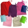 wholesale 100%cotton fabric drawstring bag
