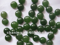 Natural round gemstone green jade cabochon