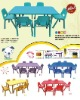kids LLDPE plastic desk and chair, kindergarten furniture