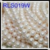 Wholesale 10-11mm Semi-Natural Freshwater Two-Face Bread Potato Pearl Necklace