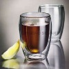 heat resistant double wall glass cup