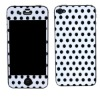Color screen protector series for iphone 4/4s-black spots pattern