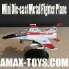 dp-23025s Die cast Fighter Plane - F16 model