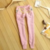 OEM China factory womens winter warm fleece tight sports trousers/pants for girls