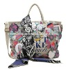 fashion women printed canvas handbag