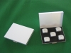 mini aluminum dice with dots set including 5 pcs