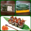 Vacuum packing natural bamboo leaves for food