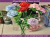 flowers for decoration made by satin ribbon